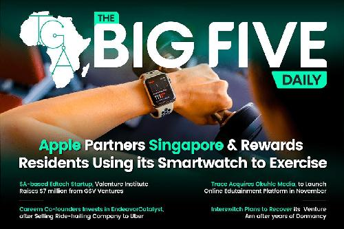 It's time for the TGIF edition of the Big 5 Daily. Relax and read. Apple has partnered with Singapore to encourage its residents to install the government-owned LumiHealth app using the Apple Watch. The app encourages users to complete certain activities during exercises like swimming, walking, and yoga.