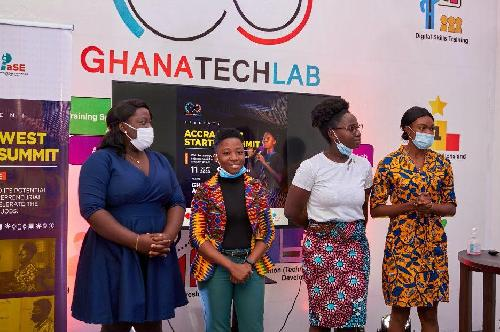 Ghana Tech Lab, an open collaborative tech space has crowned its free six web development training program with the Accra West Startup Summit. The purpose of the event was to give the trainees a platform to bring the knowledge they acquired during the training program into use and pitch their innovative ideas.